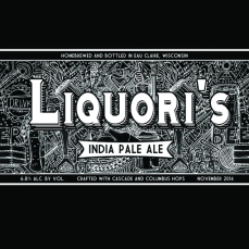 LIQUORI'S. Beer label for my homebrew project. Adobe Photoshop CS5. 2014. No prints available.