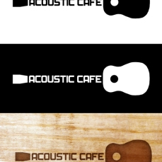 ACOUSTIC CAFE Logo Design for one of class assignments. Adobe Photoshop CS5. 2014.