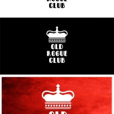 OLD ROGUE CLUB Logo Design. I designed this as one of many fictional logos for one of my upcoming projects. Adobe Photoshop CS5. 2015.
