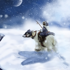 POLAR BEAR RIDER. Adobe Photoshop CS5. Wacom Intuos 3 Tablet.